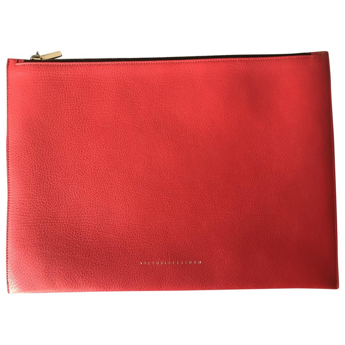 Victoria Beckham \N Clutch in  Rot Leder