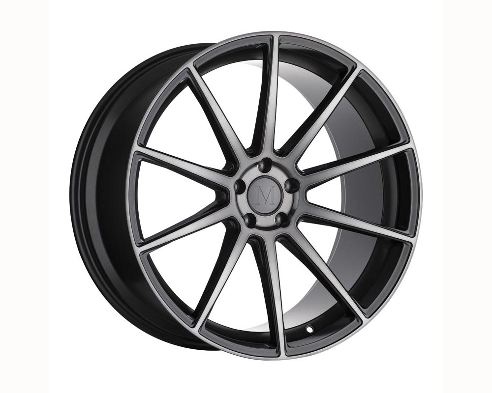 Mandrus Klass Wheel 20x8.5 5x112 22 Gloss Gunmetal w/Machined Tinted Face