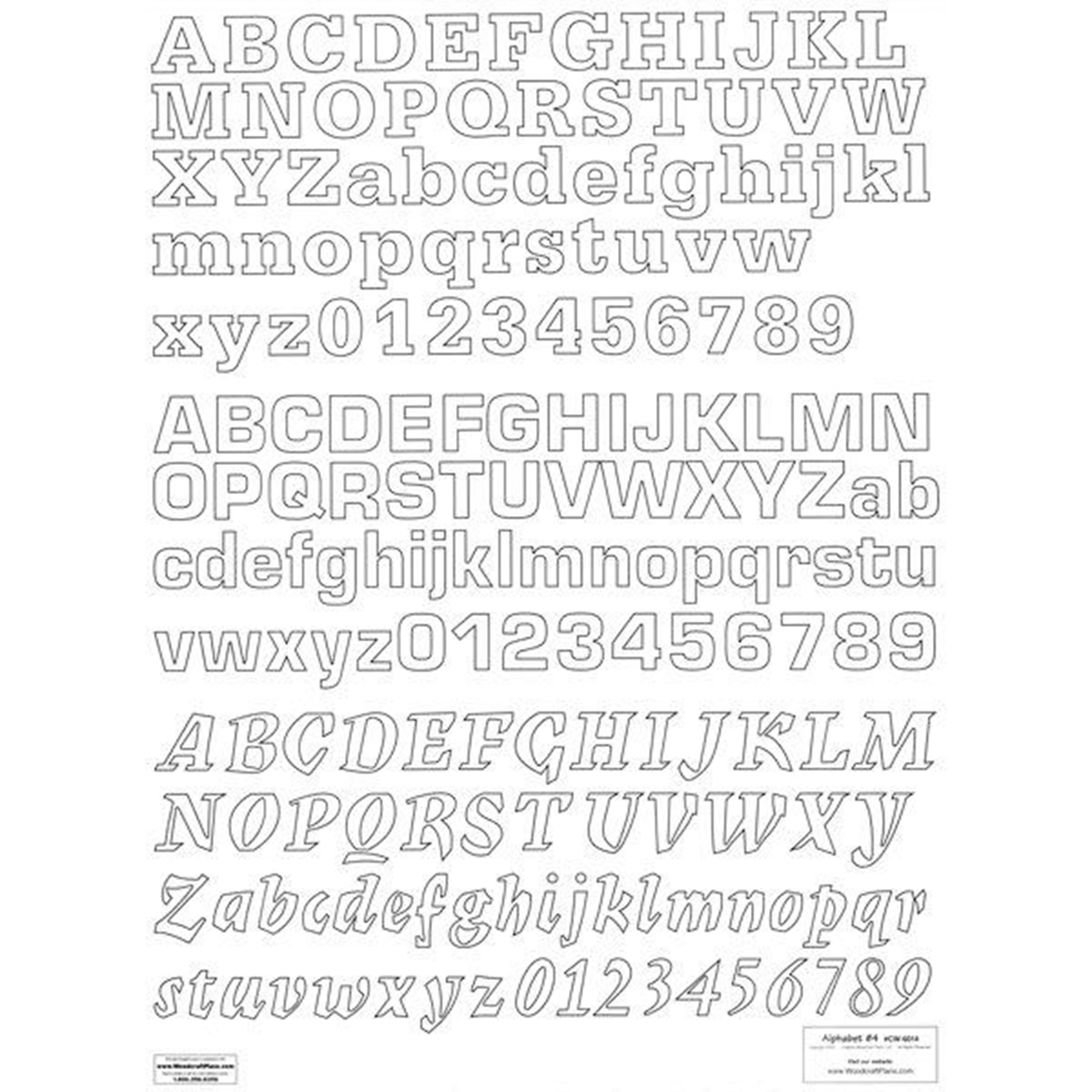 Woodworking Project Paper Plan to Build Letters & Numbers Alphabet 4