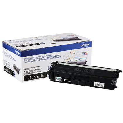 Brother TN436BK Original Black Toner Cartridge Extra High Yield 6500 Pages