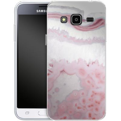 Samsung Galaxy J3 (2016) Silikon Handyhuelle - Blush Agate von Emanuela Carratoni