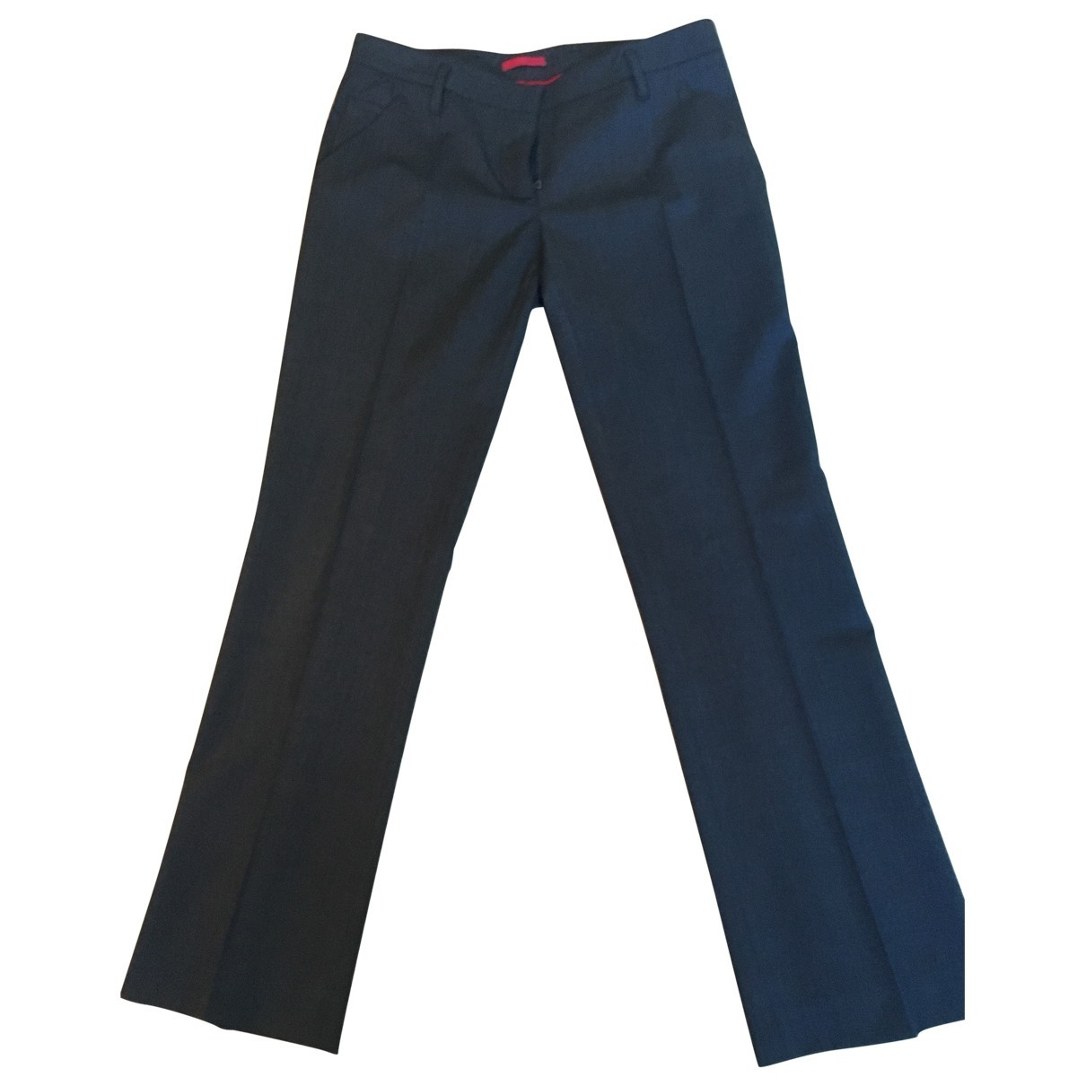 Prada \N Anthracite Wool Trousers for Women 42 FR
