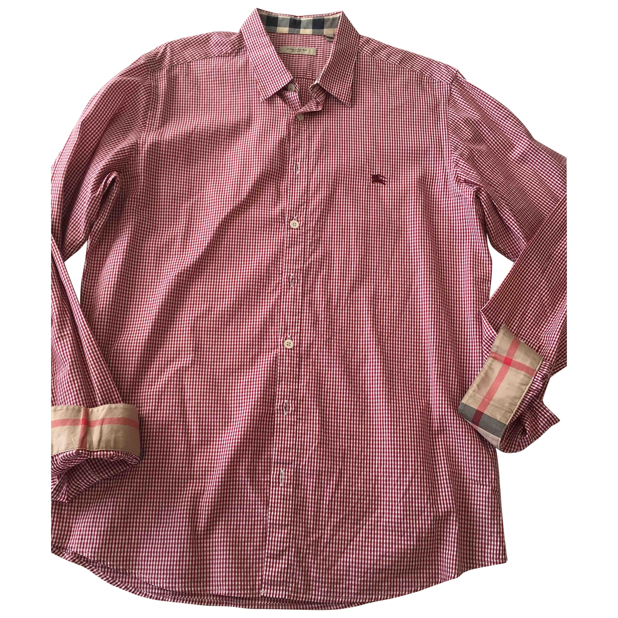 Burberry \N Red Cotton Shirts for Men M International