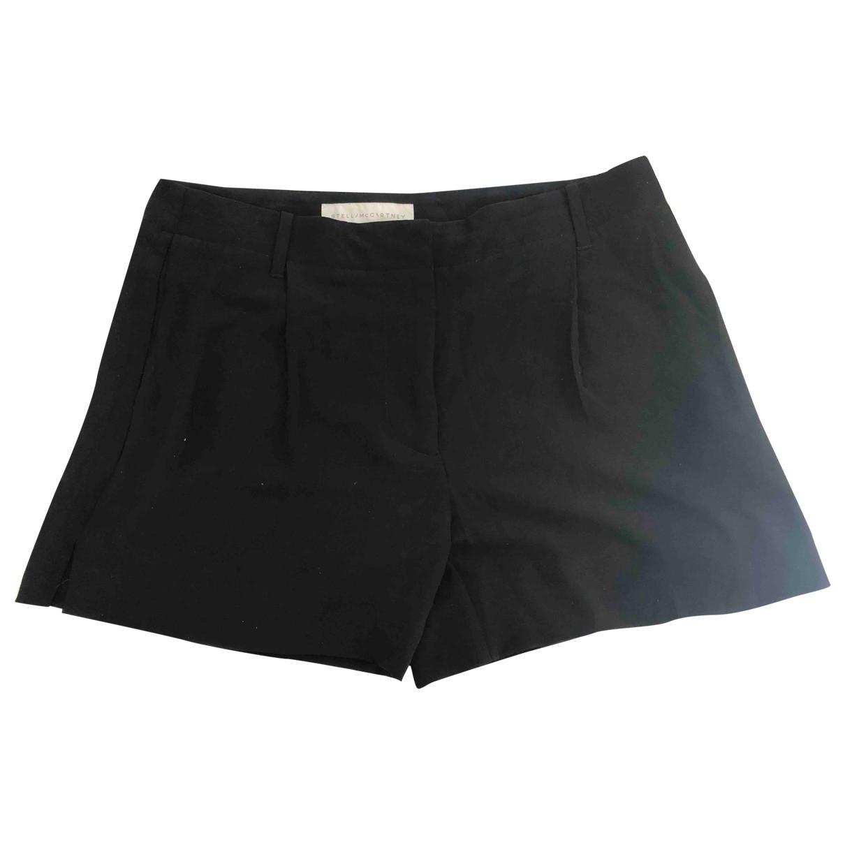 Stella Mccartney \N Black Silk Shorts for Women 42 IT