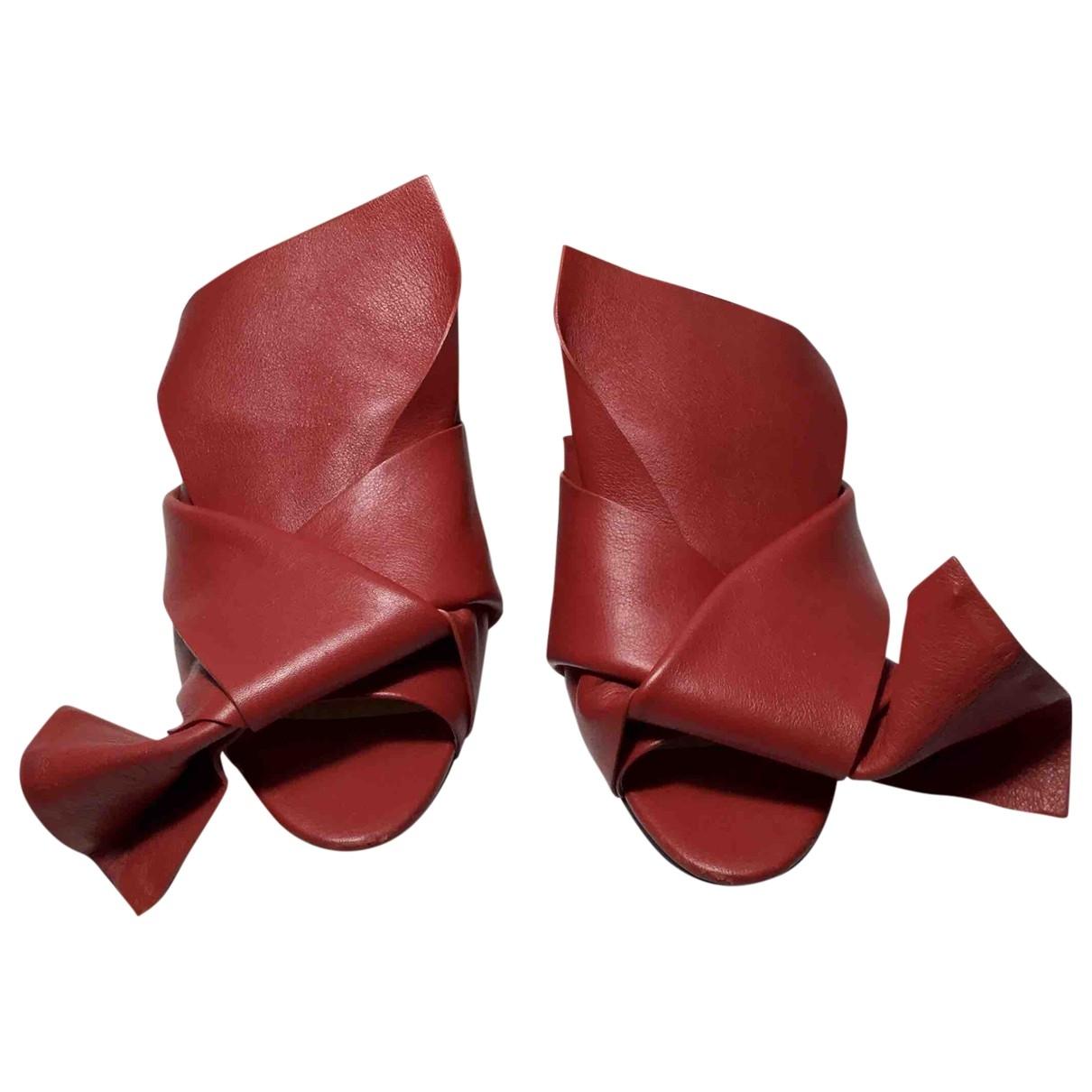 N°21 \N Sandalen in  Rot Leder