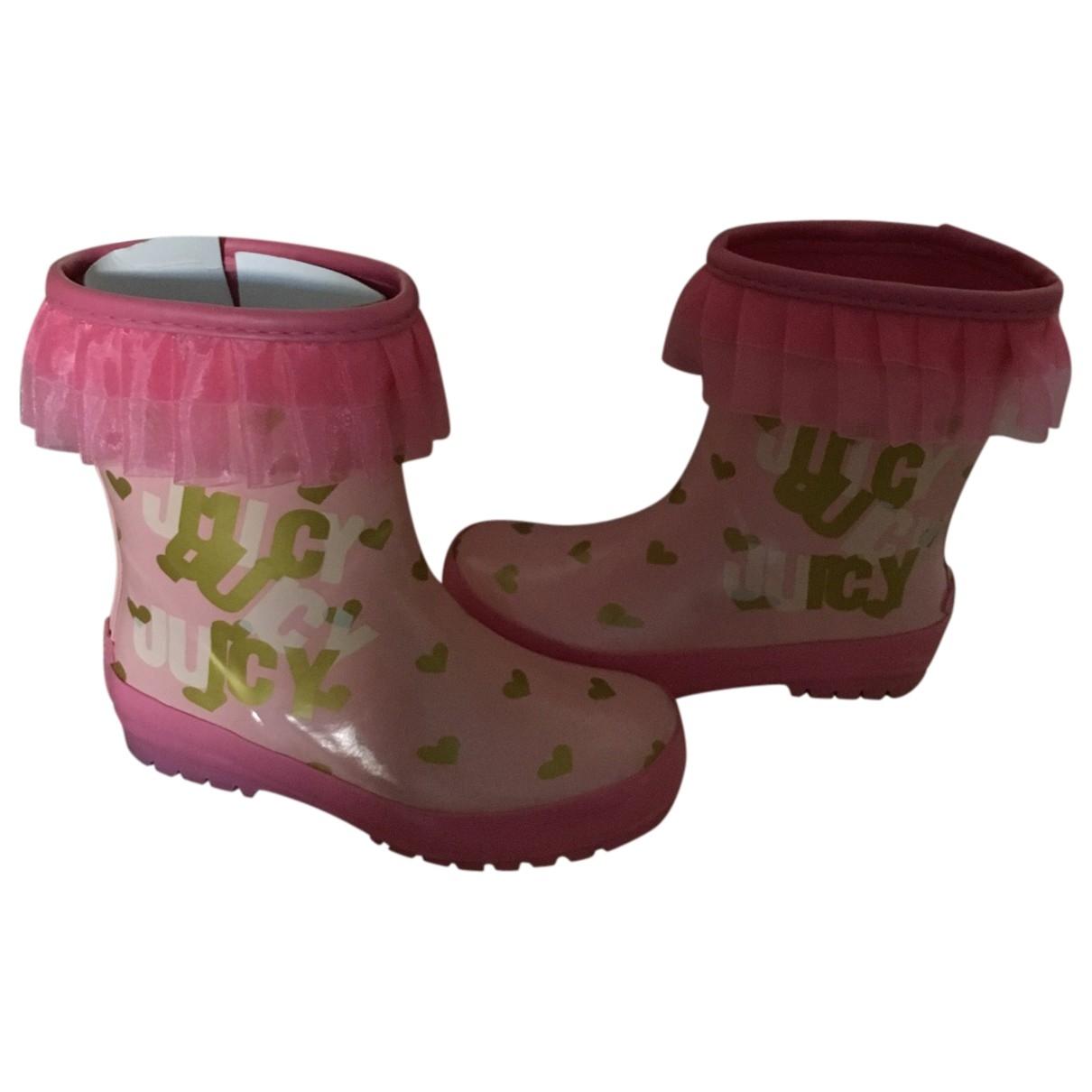 Juicy Couture - Bottes.Bottines   pour enfant en caoutchouc - rose