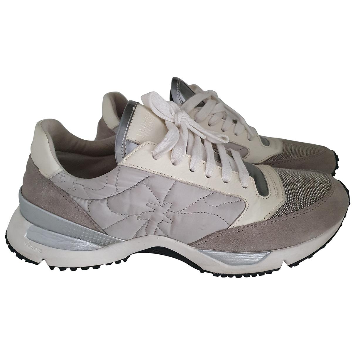 Brunello Cucinelli \N Sneakers in  Grau Leder