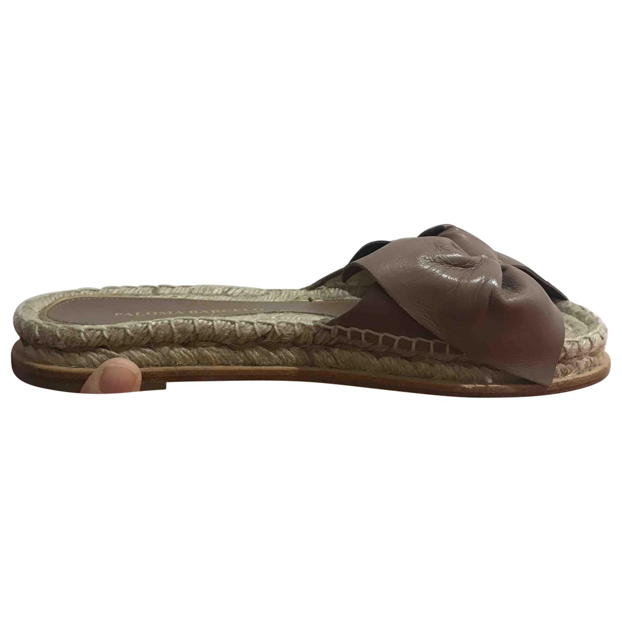Paloma Barcelo \N Brown Leather Flats for Women 38 EU