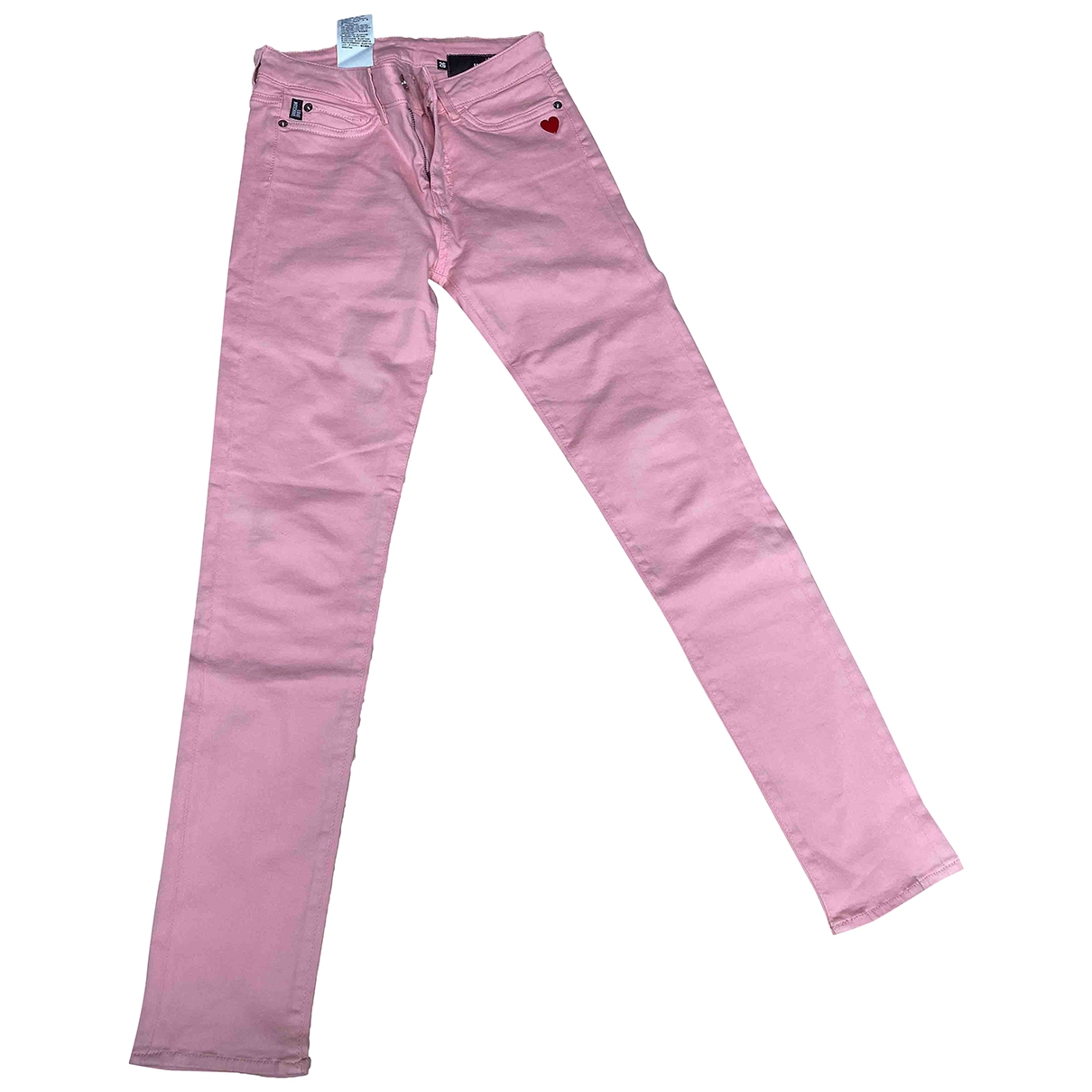 Moschino Love \N Pink Cotton Trousers for Women 36 FR