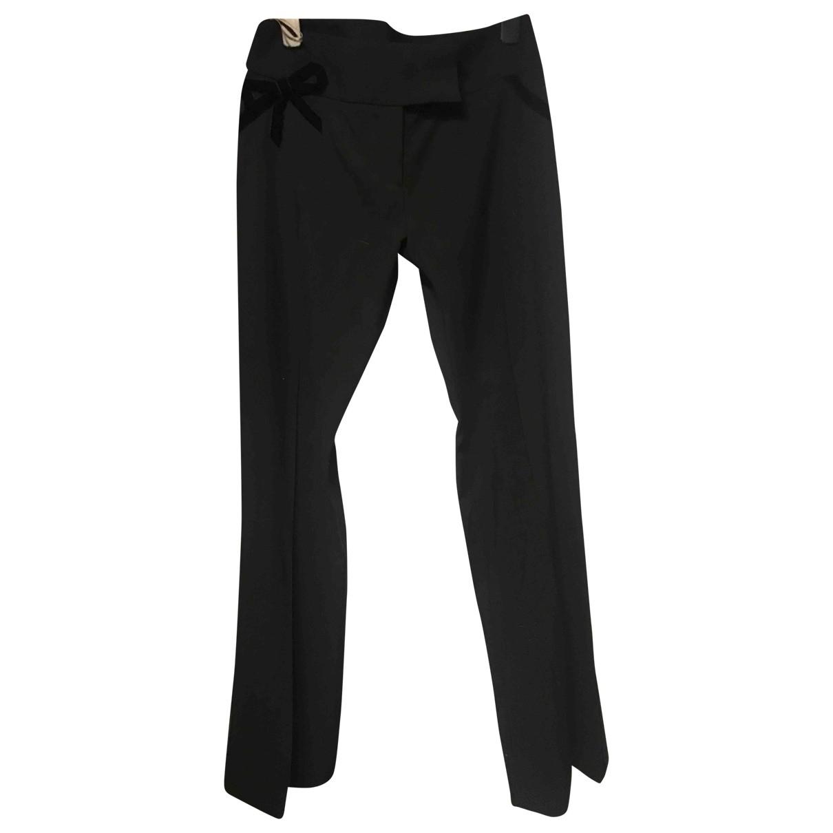 Karen Millen \N Black Cloth Trousers for Women 12 UK
