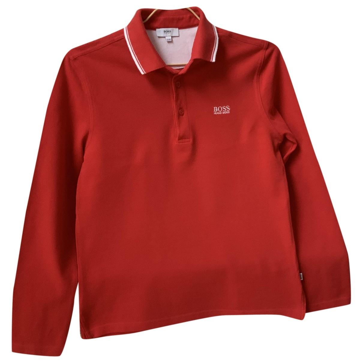 Camisetas en Algodon Rojo Boss