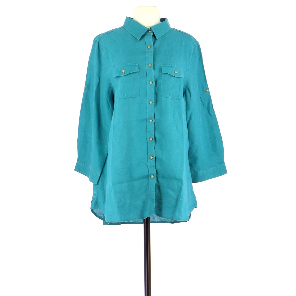 Dolce & Gabbana \N Turquoise Linen  top for Women 42 FR