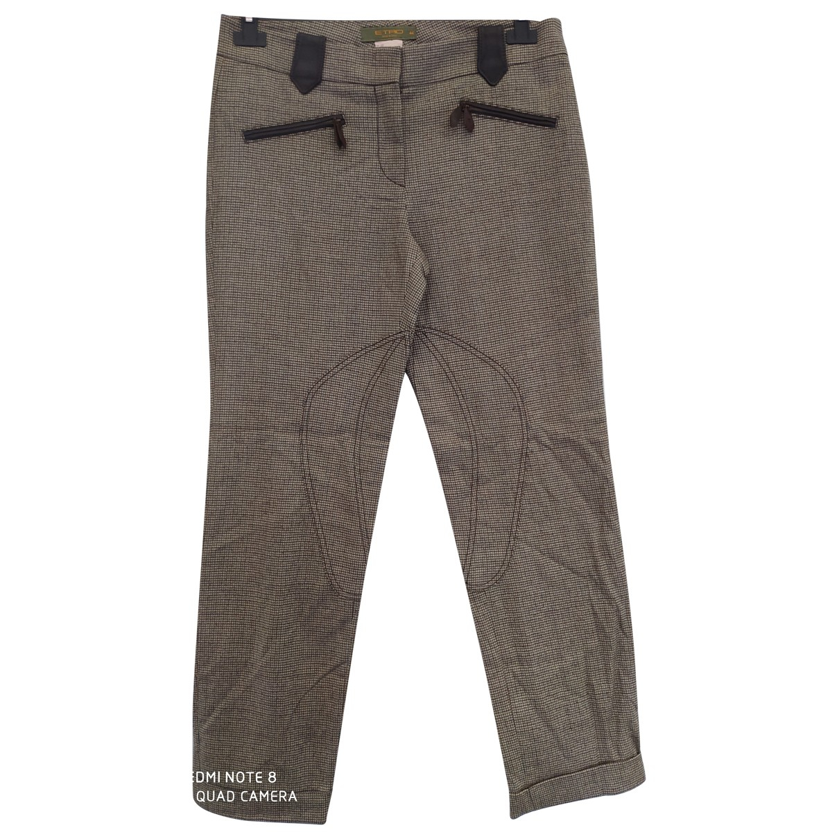 Etro N Wool Trousers for Women 44 IT