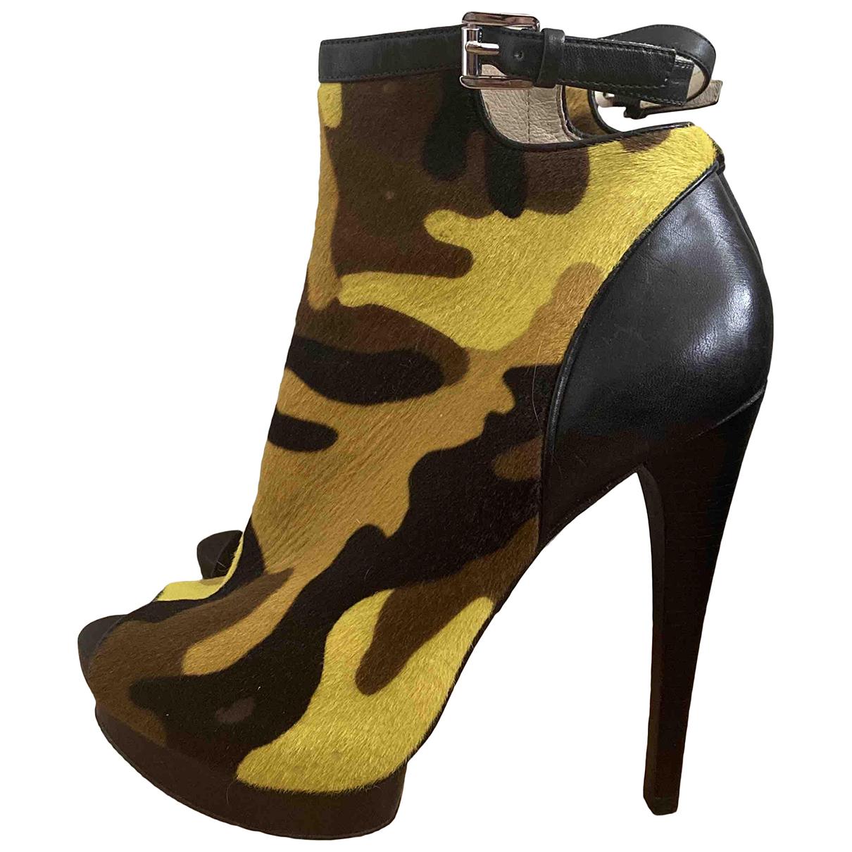 Michael Kors - Boots   pour femme en fourrure - noir