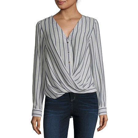 a.n.a Womens Long Sleeve Relaxed Fit Button-Down Shirt, Small , Blue