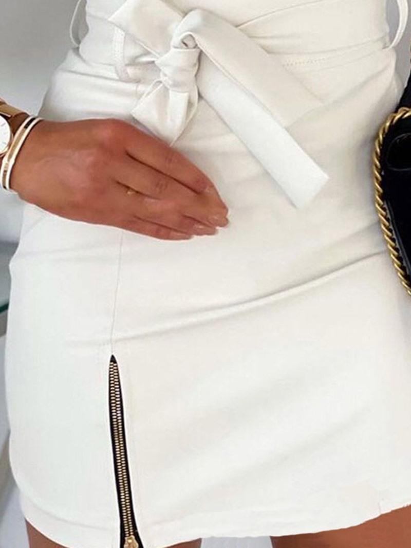 Ericdress Plain Mini Skirt Bodycon Simple Skirt