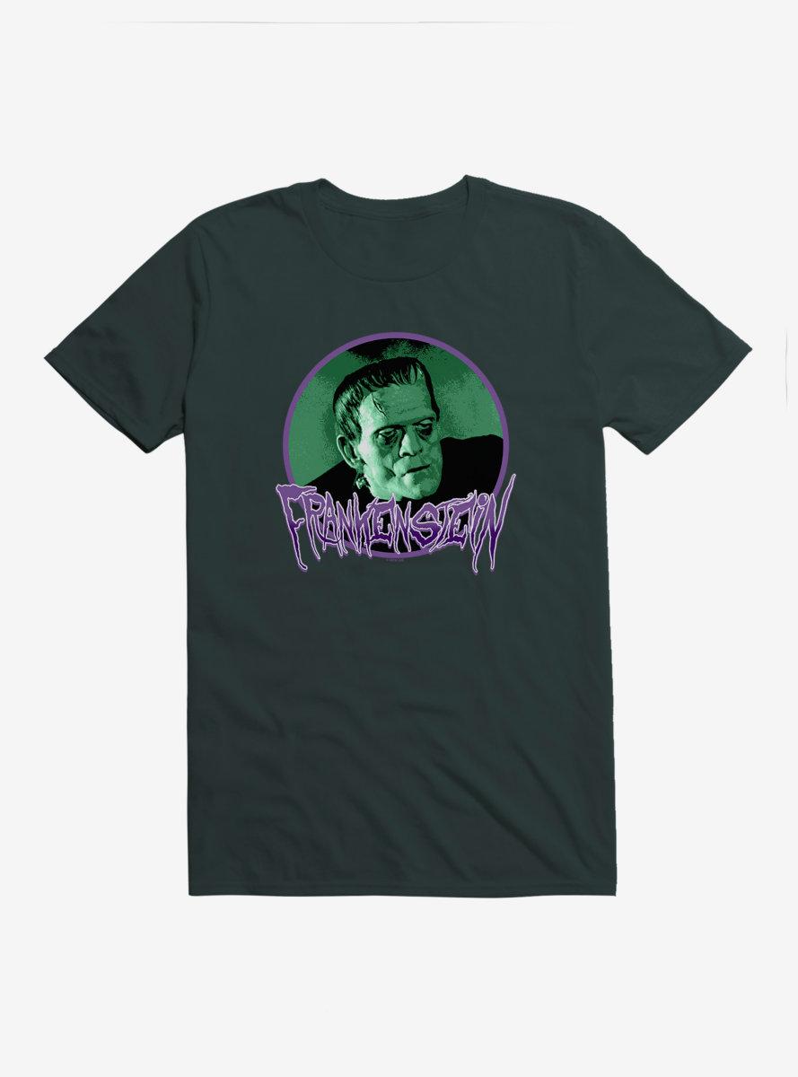 Universal Monsters Frankenstein Round Portrait T-Shirt