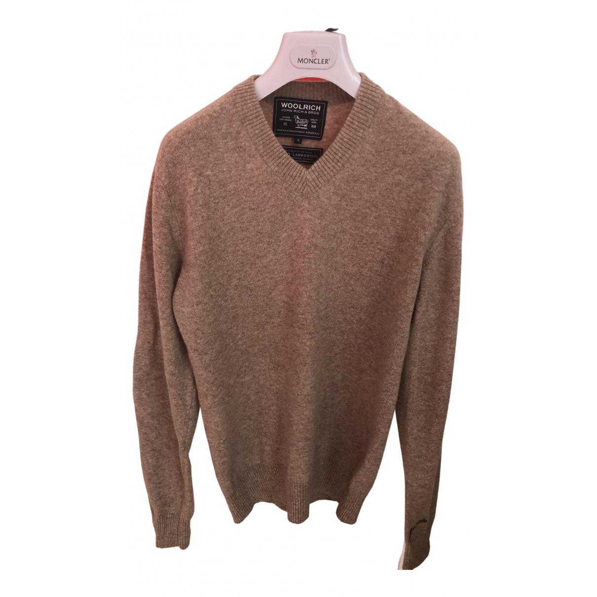 Woolrich \N Pullover.Westen.Sweatshirts  in  Kamel Wolle
