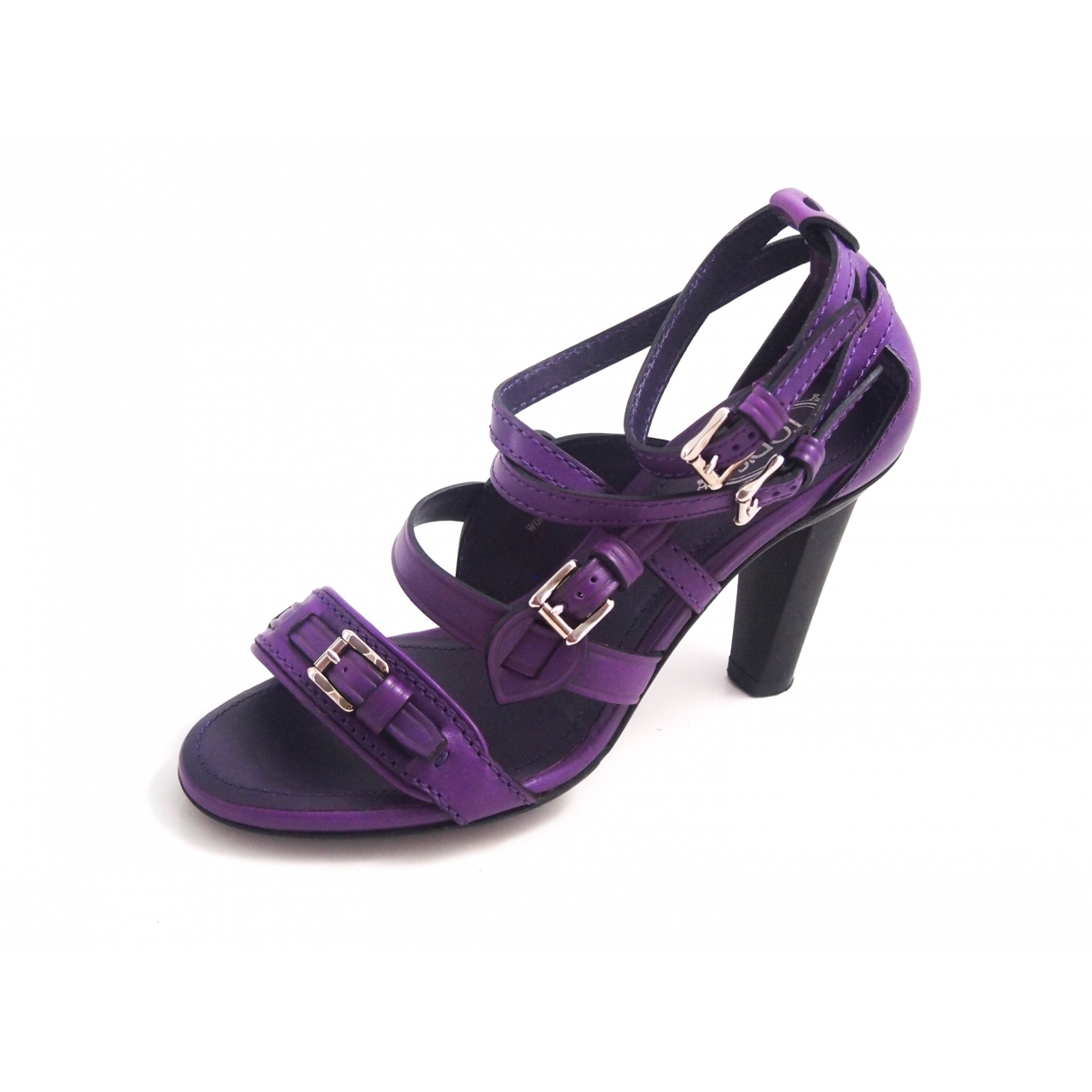 Tod's \N Purple Leather Sandals for Women 36.5 EU