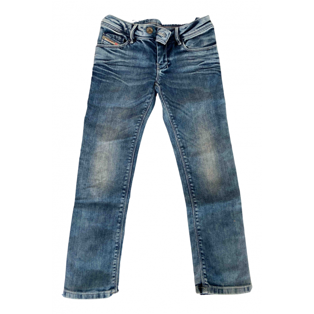 Diesel N Blue Cotton Trousers for Kids 6 years - up to 114cm FR
