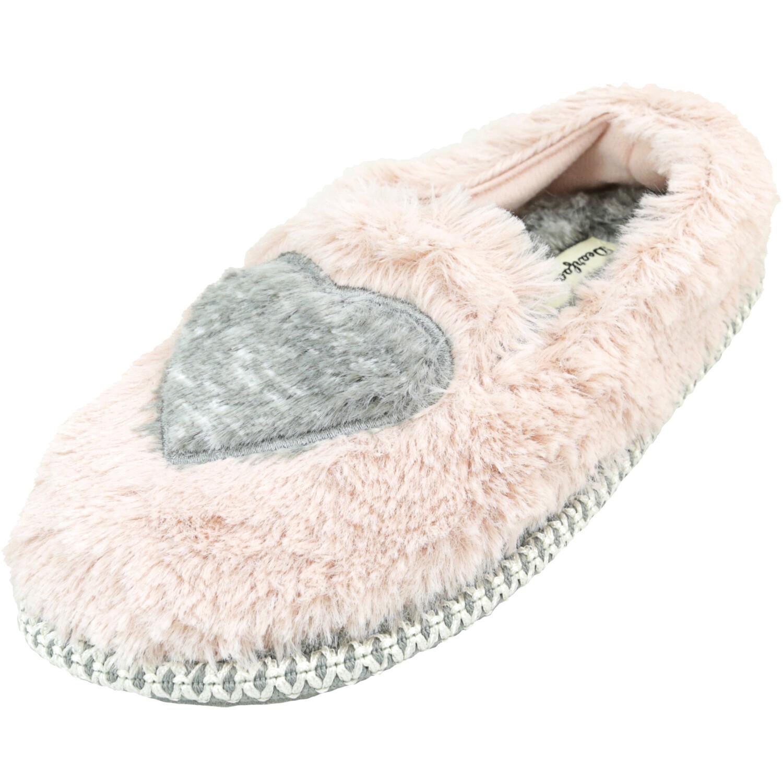 Dearfoams Girl's Heart Dusty Pink Ankle-High Slipper - 3M