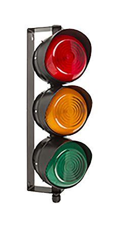 Moflash LED Traffic Light 3W Brkt Red,Amb & Grn