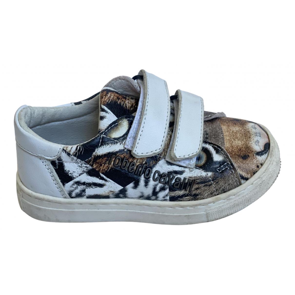 Roberto Cavalli \N Sneakers in  Weiss Leder