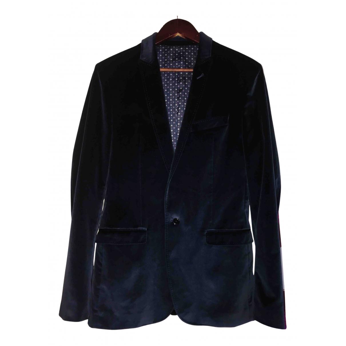 D&g N Blue Velvet jacket  for Men 48 IT