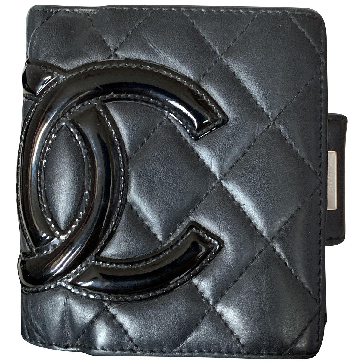 Chanel Cambon Portemonnaie in  Schwarz Leder