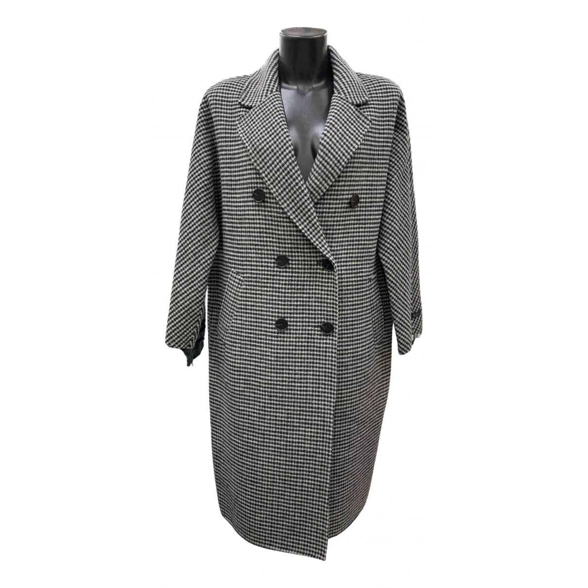 - Manteau Oversize pour femme en laine - anthracite