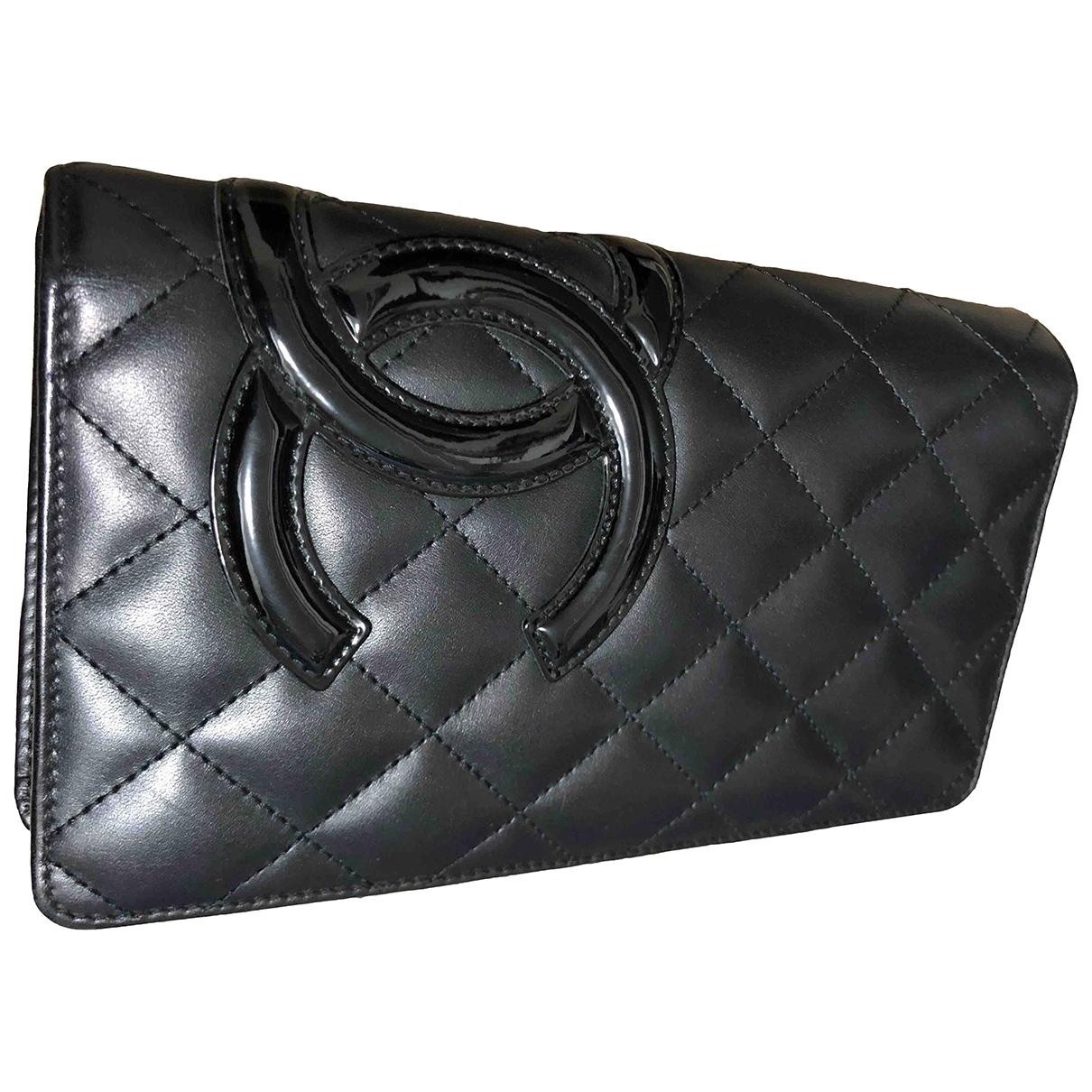Chanel - Petite maroquinerie Cambon pour femme en cuir - noir