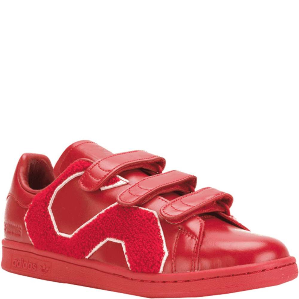 Adidas X RAF Simons Stan Smith Colour: RED, Size: UK 6