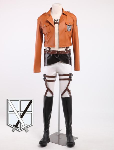 Milanoo Halloween Attack On Titan Eren Jaeger Cosplay Disfraz Shingeki no Kyojin Halloween
