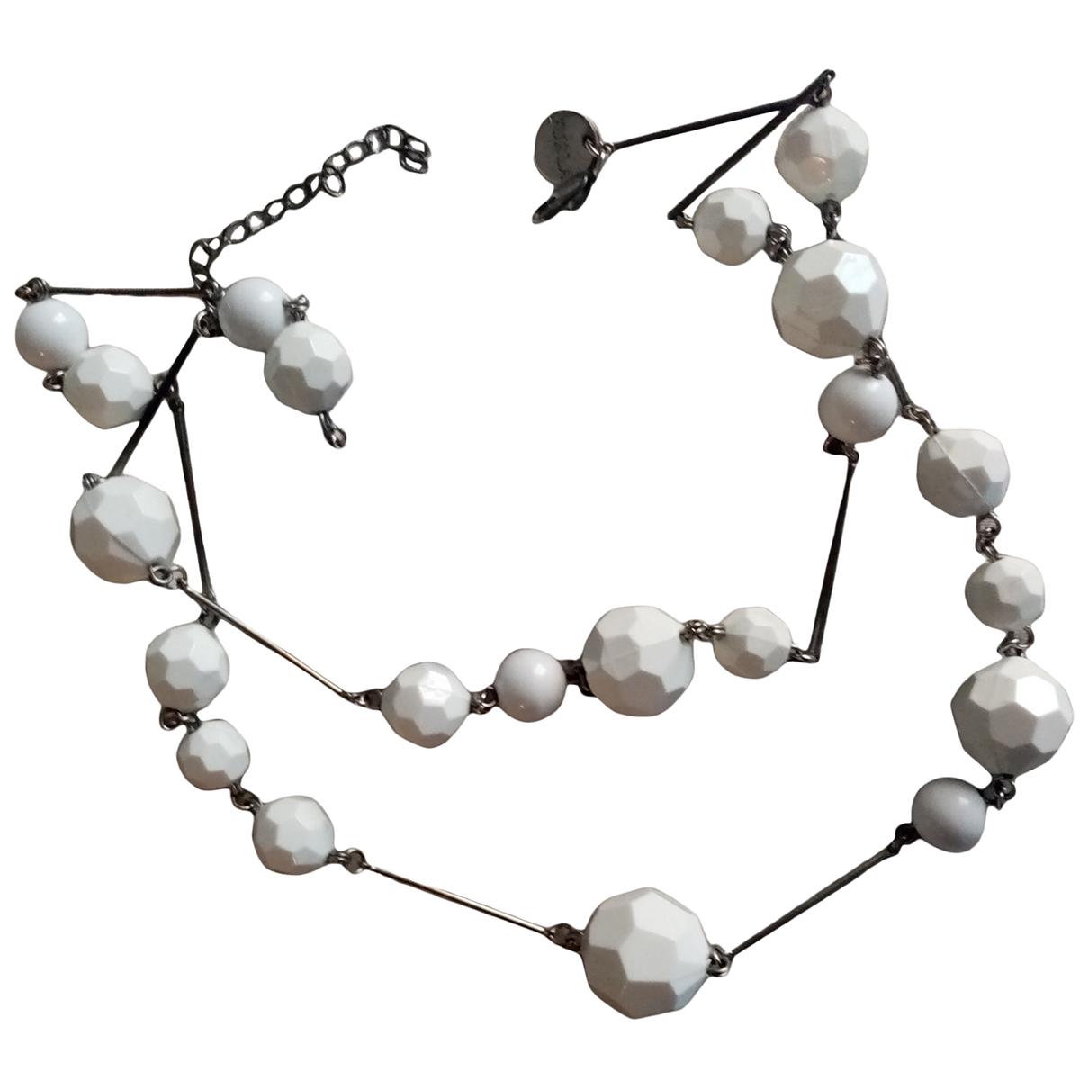 Furla - Collier   pour femme en metal - blanc