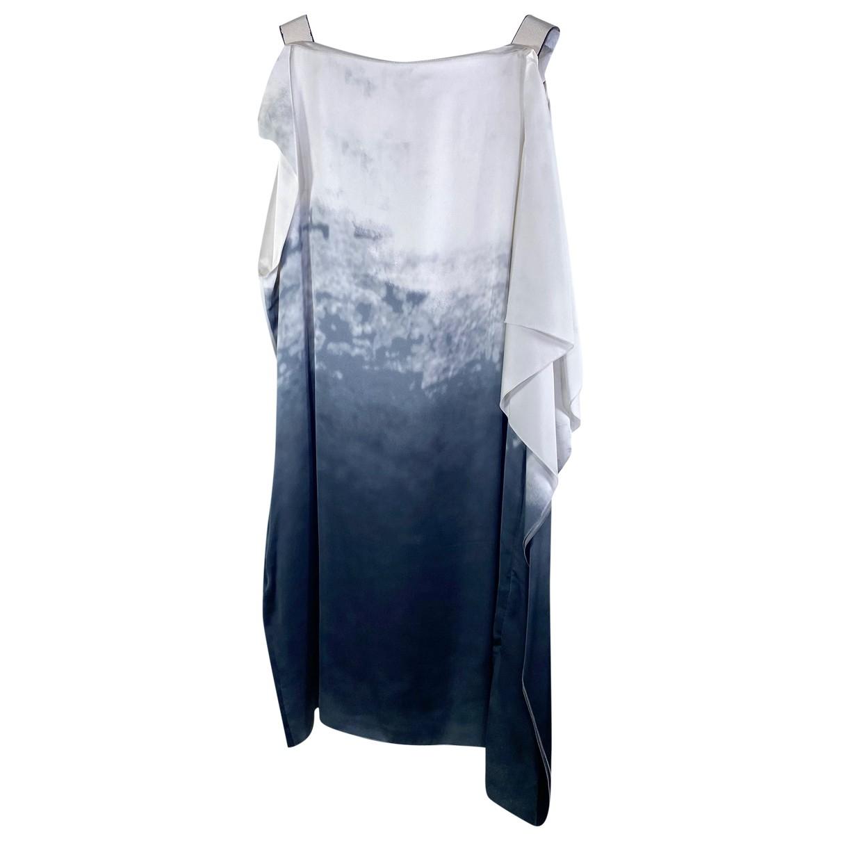 Bottega Veneta \N Kleid in  Beige Seide