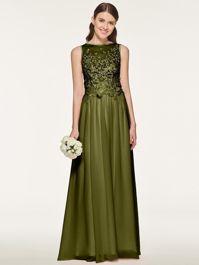 Ericdress A Line Appliques Chiffon Bridesmaid Dress
