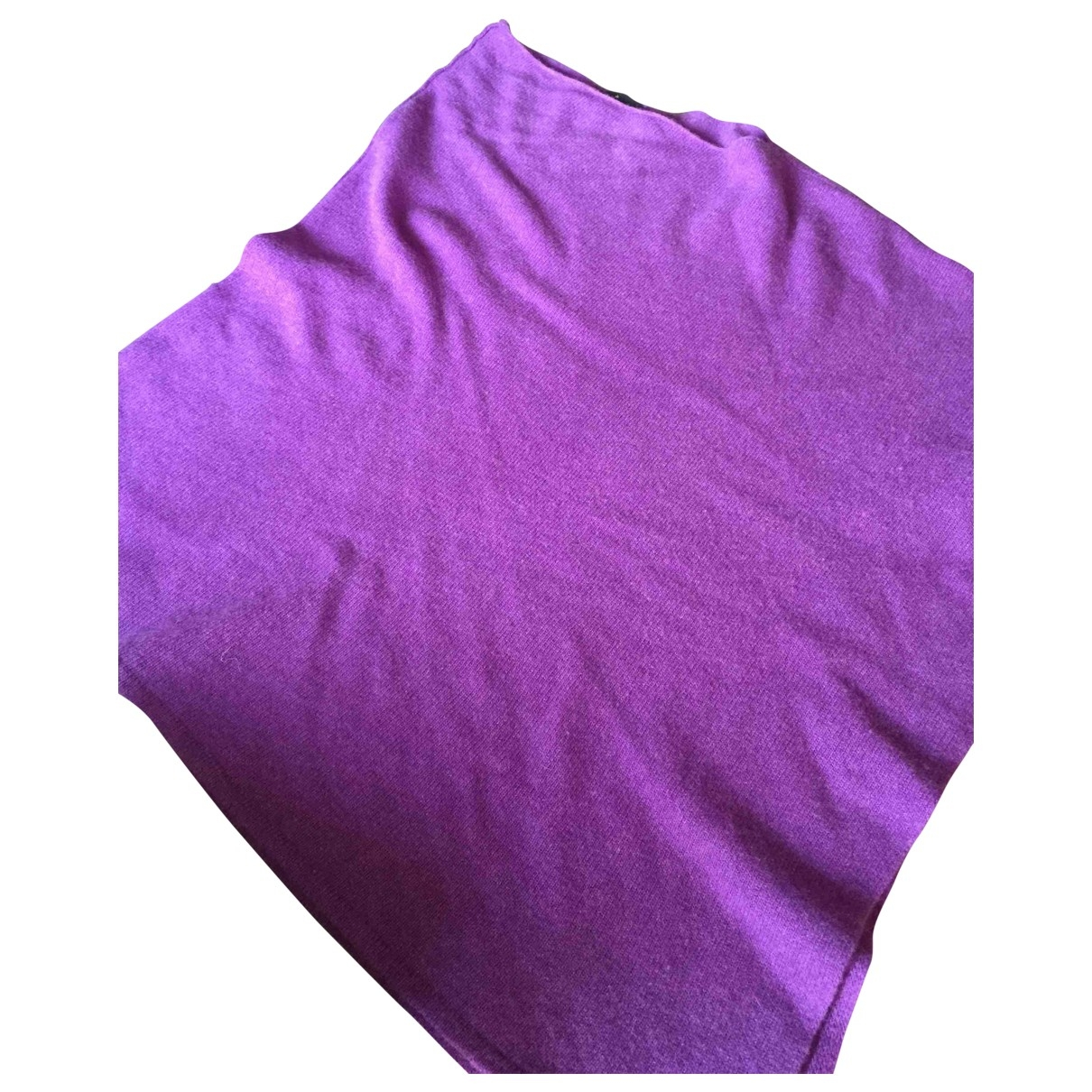 Non Signé / Unsigned \N Purple Cashmere Knitwear for Women 42 IT