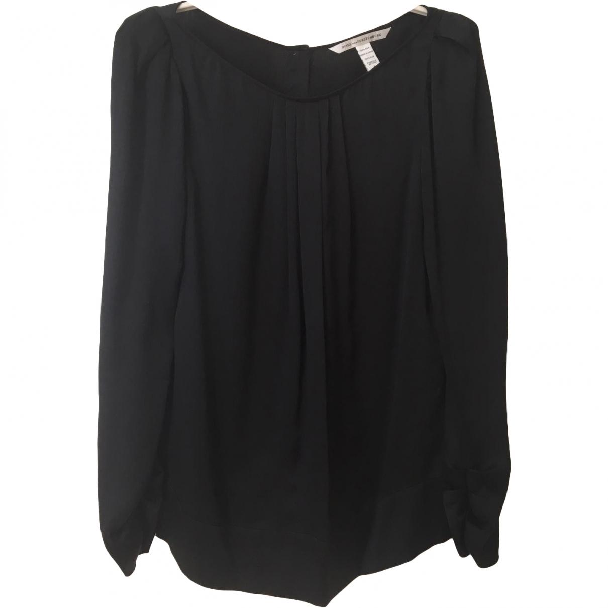 Diane Von Furstenberg N Black Silk  top for Women 8 US