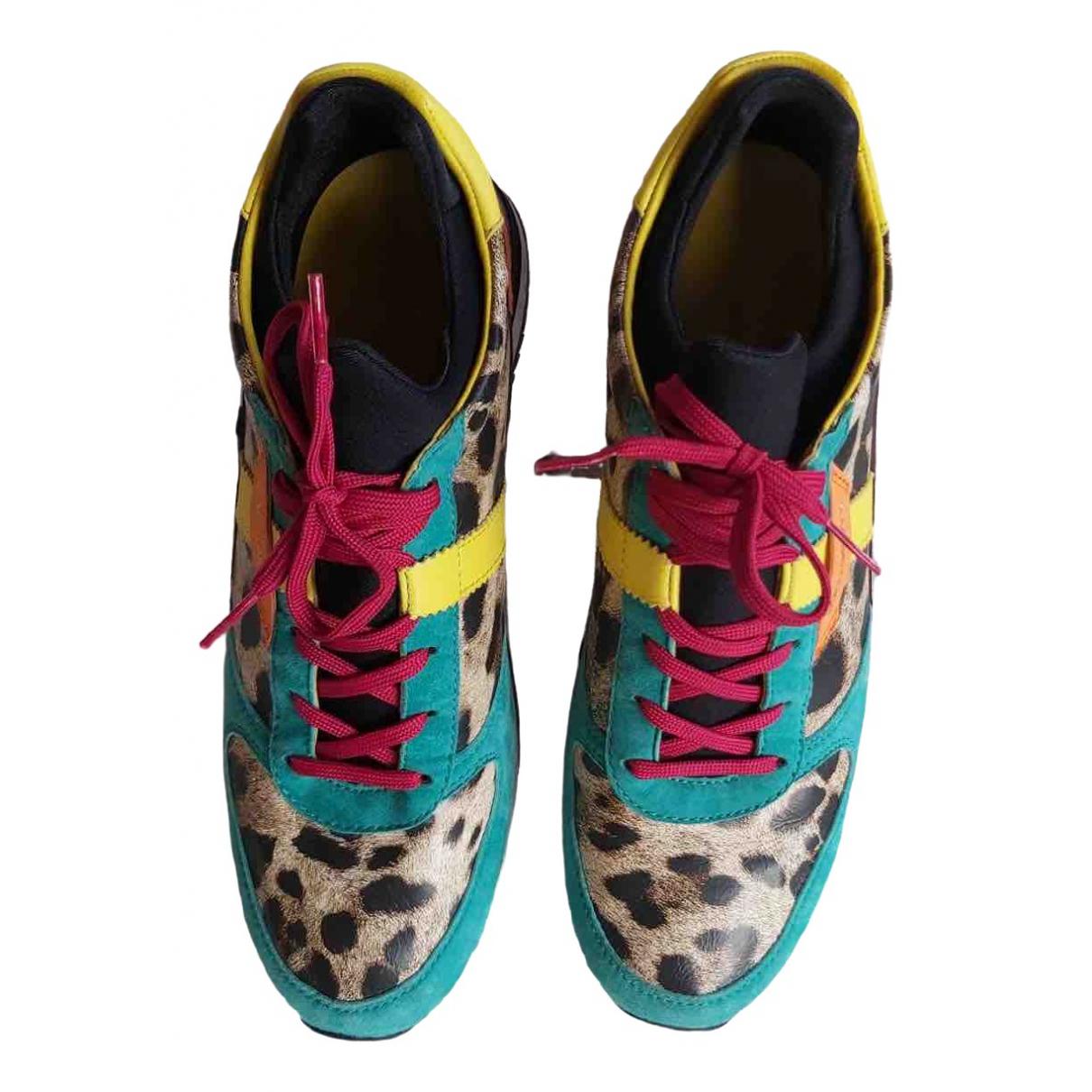 Dolce & Gabbana - Baskets   pour femme en toile - multicolore