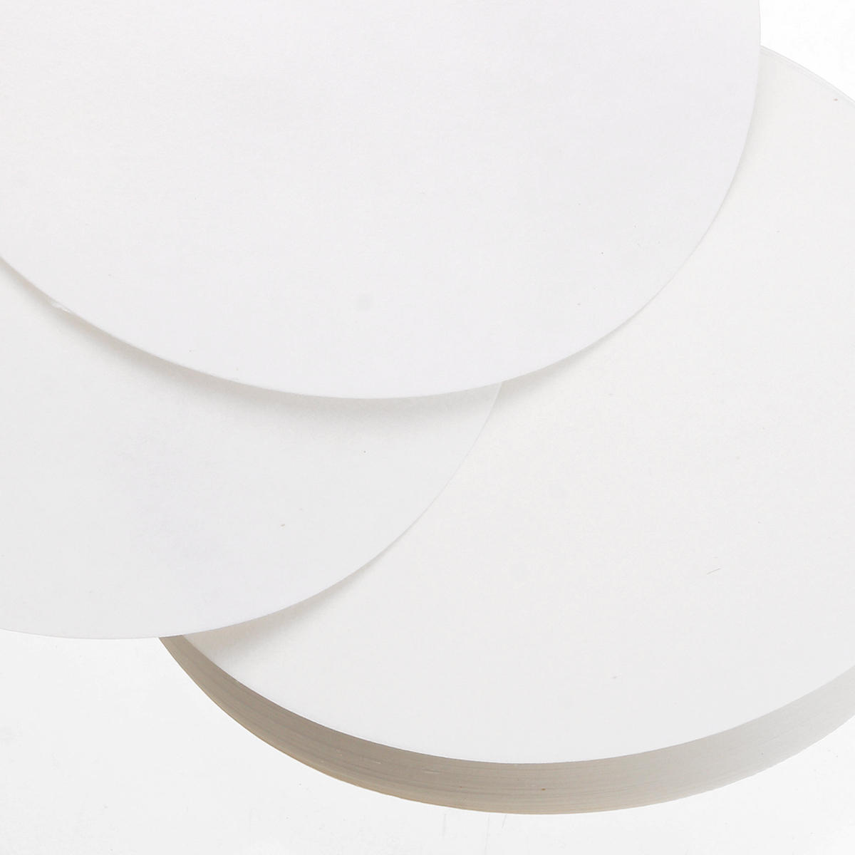 100Pcs/Set 7/9/11/12.5/15/18cm Quantitative Filter Paper Ashless Circular Funnel Filter Sheet Slow Speed 10-15um