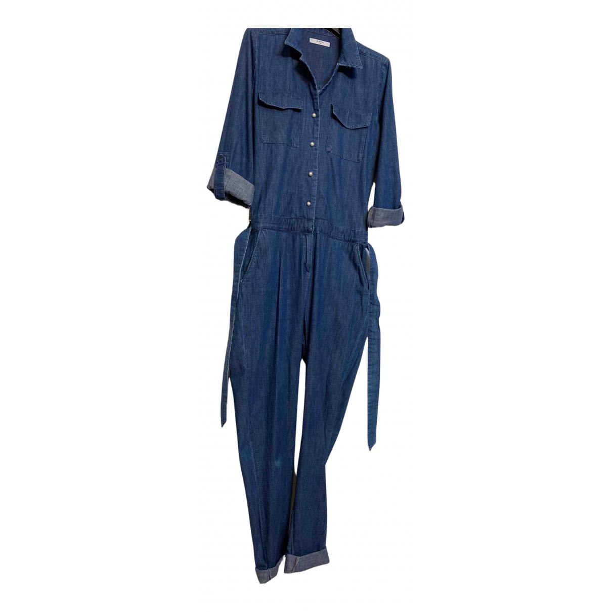 Zapa N Blue Cotton jumpsuit for Women 38 FR