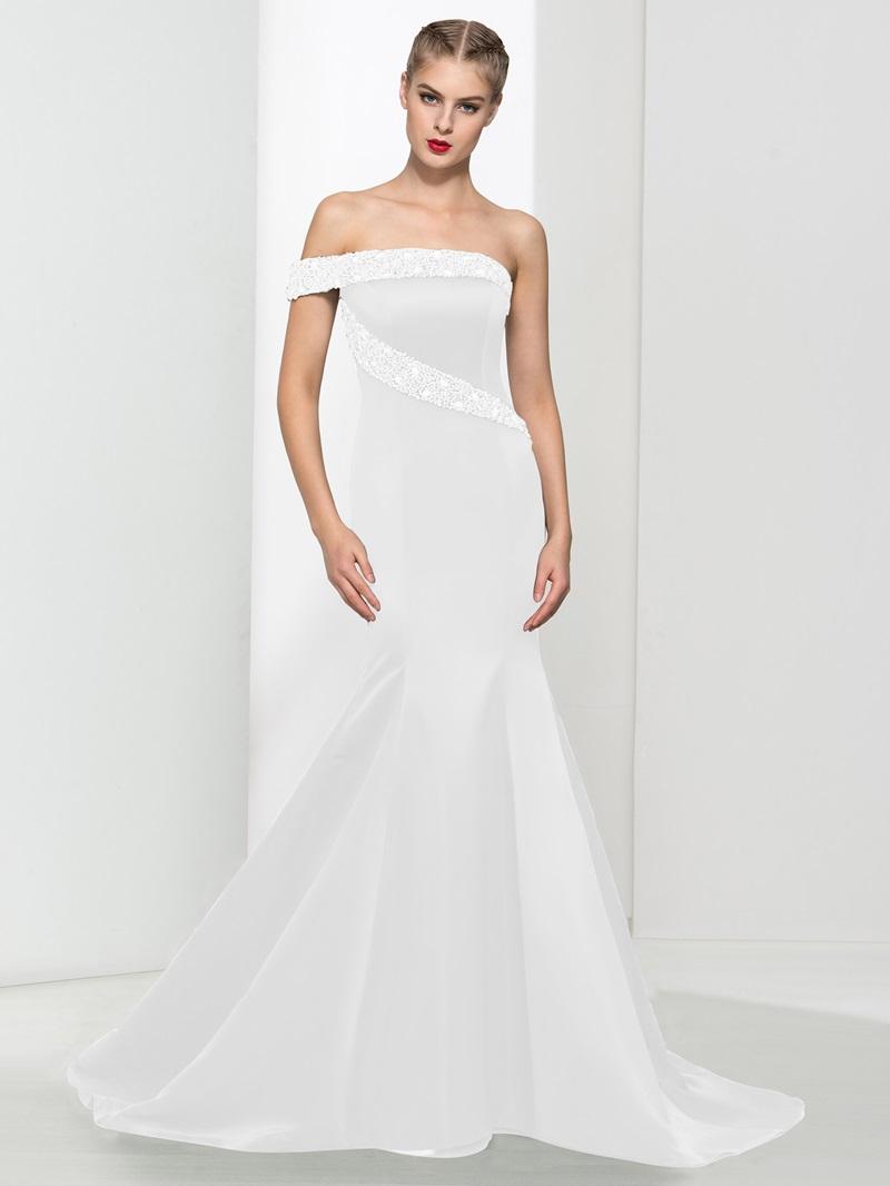 Ericdress Off the Shoulder Beading Mermaid Evening Dress