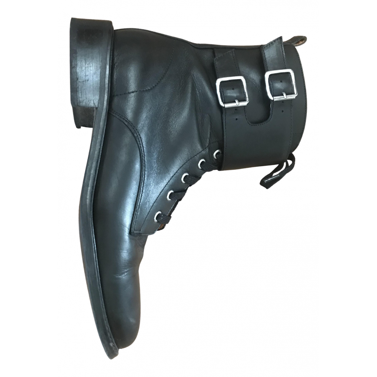 Ba&sh \N Black Leather Ankle boots for Women 40 EU