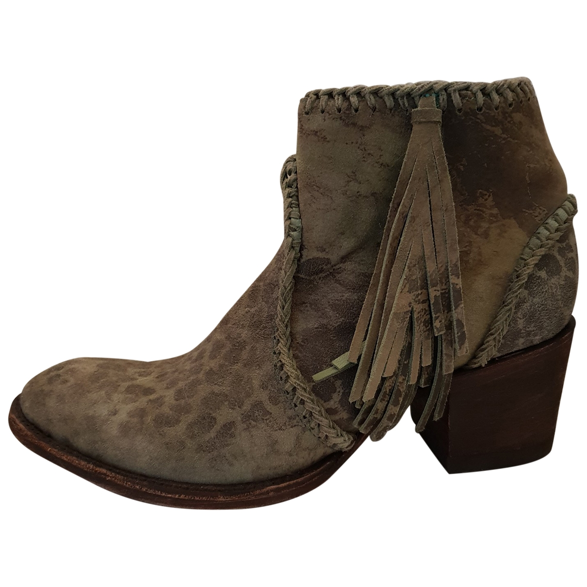 Mexicana \N Blue Leather Ankle boots for Women 38 EU
