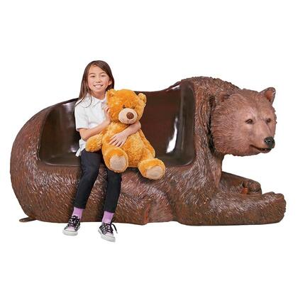 NE1600172 Brown Grizzly Bear Bench