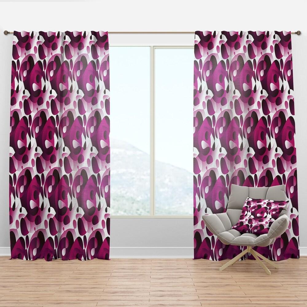Designart 'Abstract Design Retro Pattern VI' Mid-Century Modern Curtain Panel (50 in. wide x 95 in. high - 1 Panel)