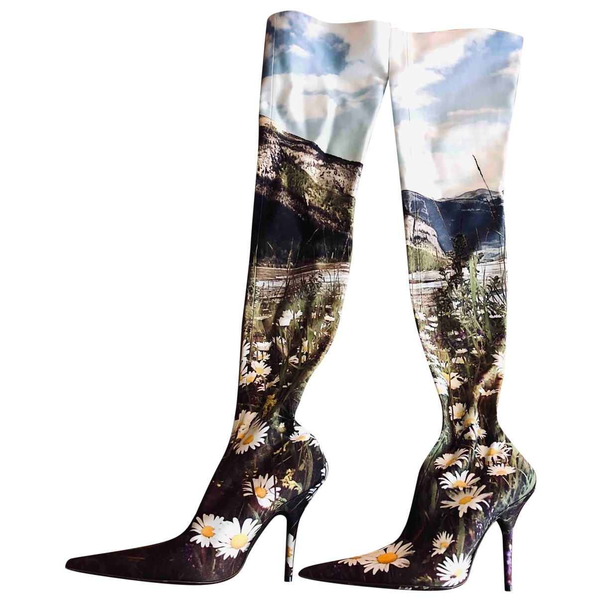 Balenciaga Knife Multicolour Cloth Boots for Women 38.5 EU