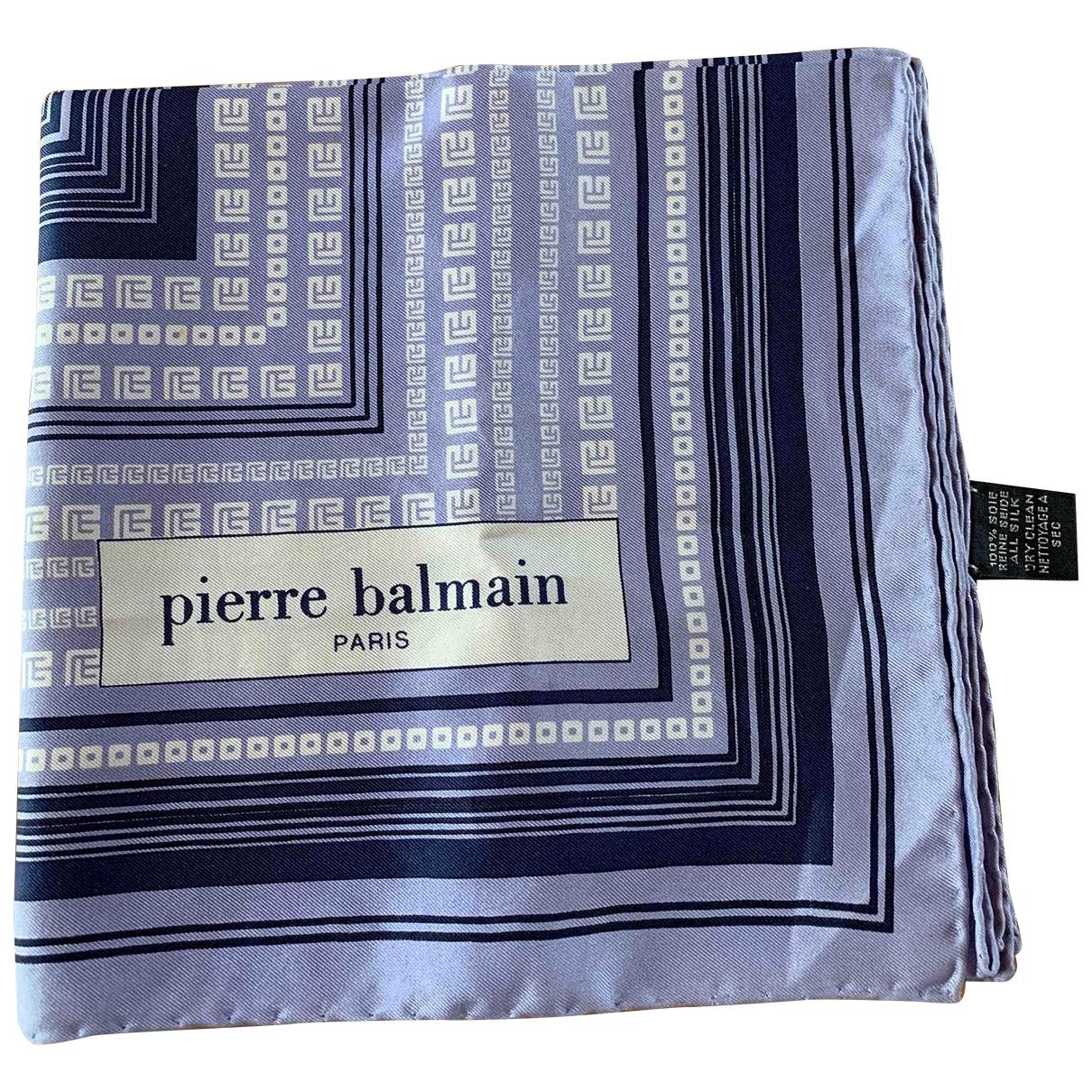 Pierre Balmain \N Blue Silk scarf for Women \N