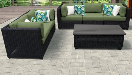 Venice Collection VENICE-06f-CILANTRO 6-Piece Patio Set 06f with 4 Corner Chair   1 Armless Chair   1 Coffee Table - Wheat and Cilantro
