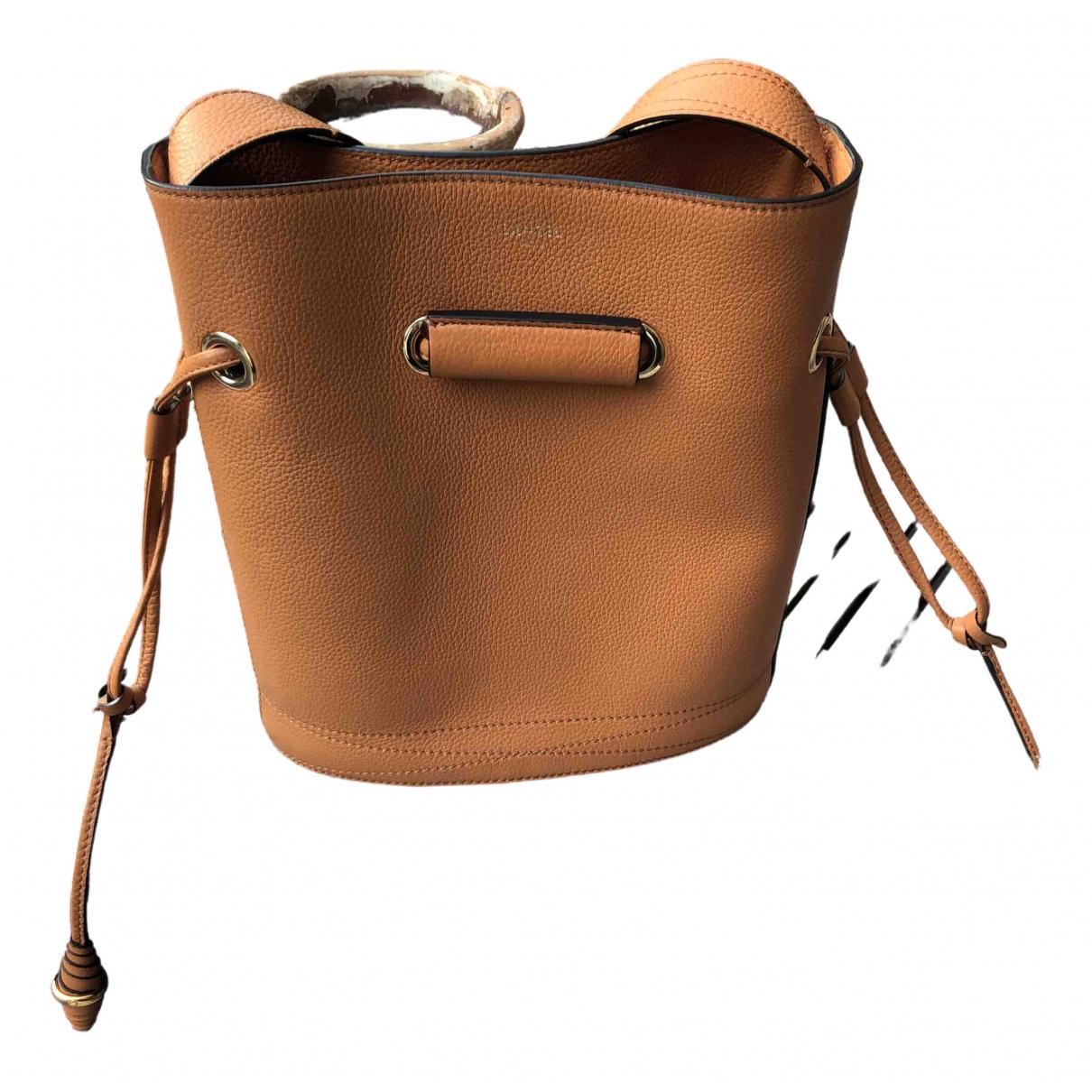 Lancel \N Camel Leather handbag for Women \N